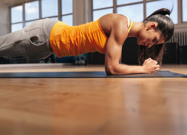 Planks work lots of different muscle groups