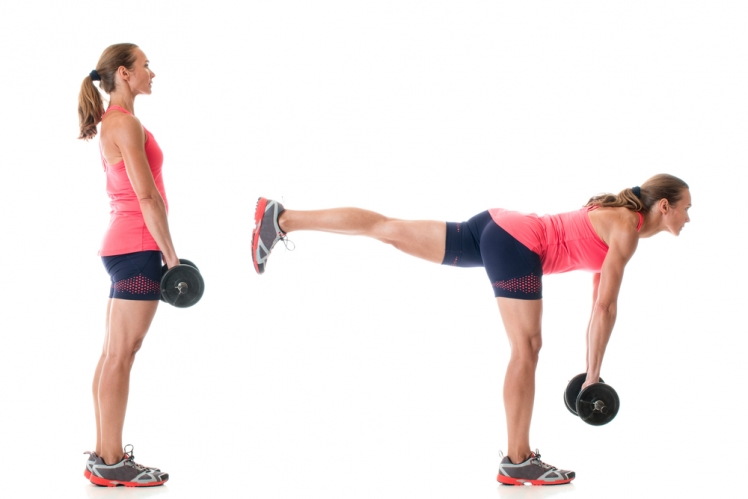 Single Leg Deadlift with Weights