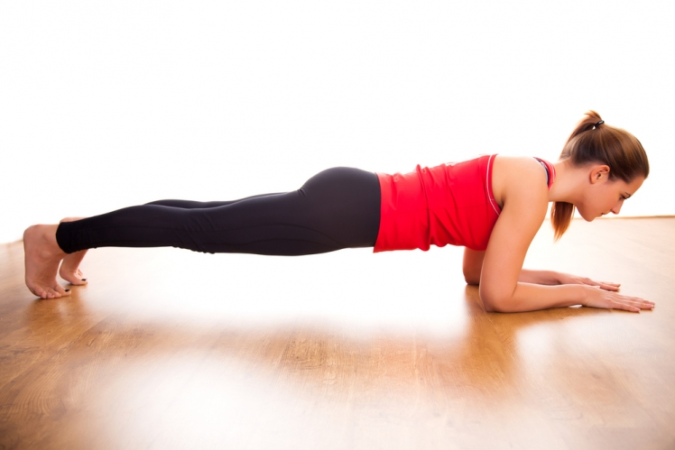 Plank to push-up