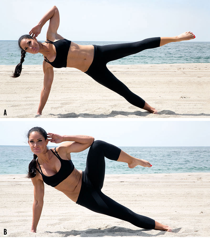 Side-plank crunch