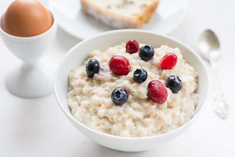 Cream of Wheat with Maple Walnuts and Cranberries