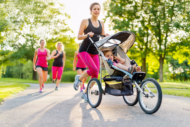 Running with jogging stroller