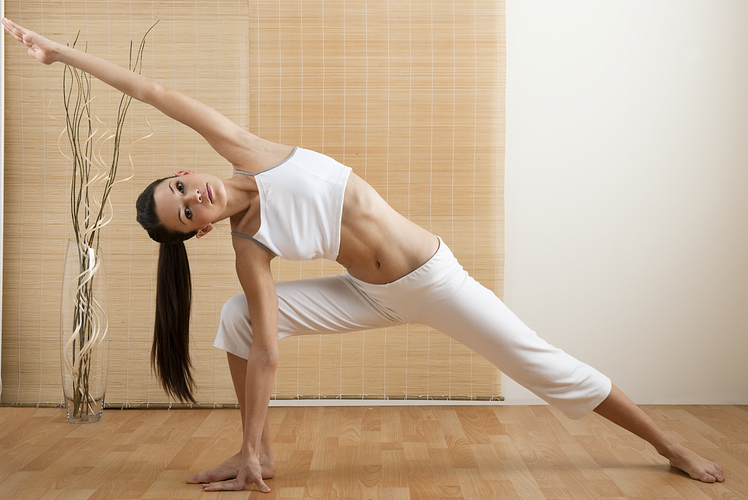 Example of extended side angle yoga pose