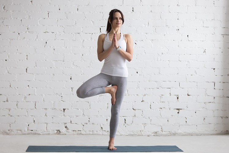 Example of tree yoga pose