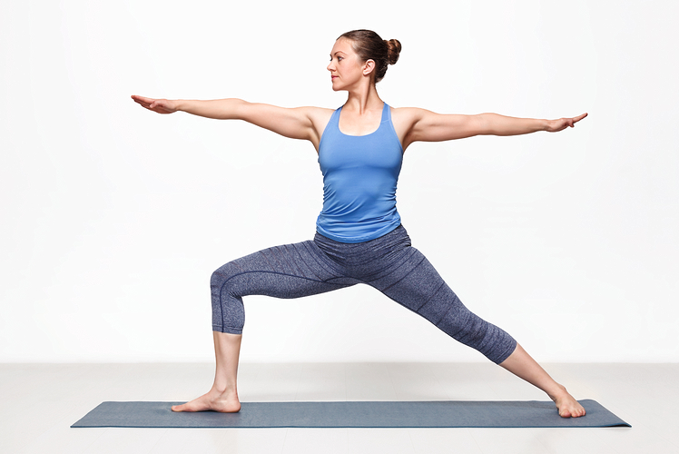 Example of warrior two yoga pose