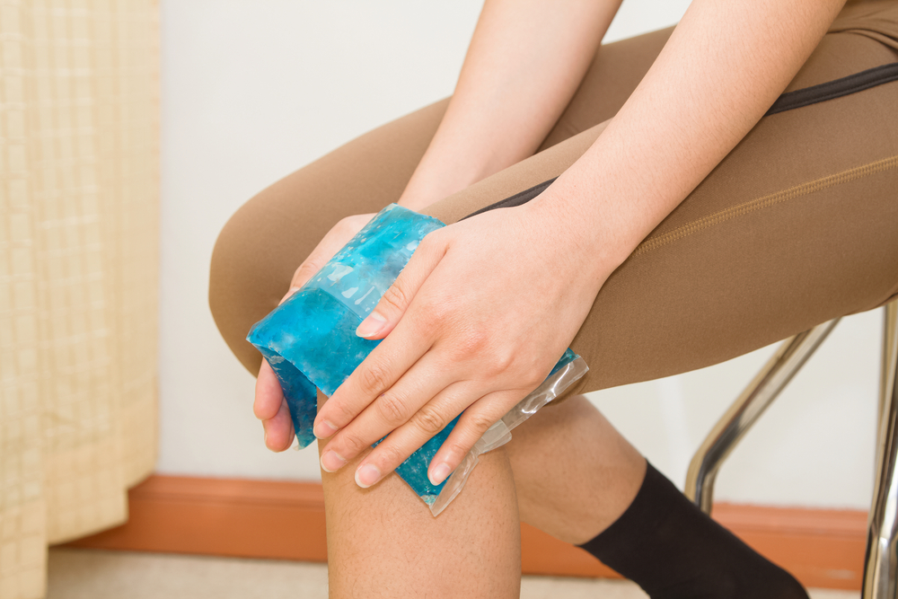 ease a strain or sprain with ice pack