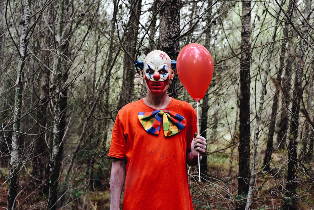 creep clown forest