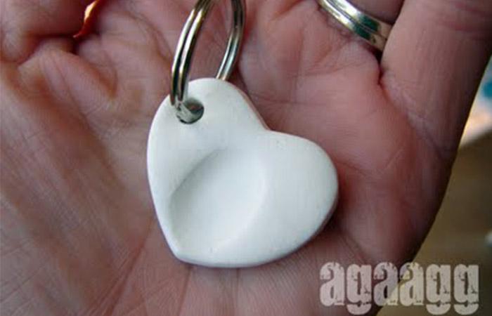 Thumb Print Keychain