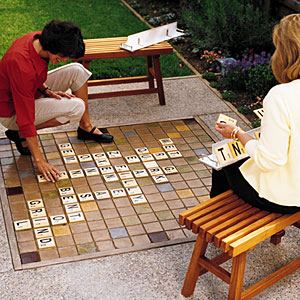 build a giant scrabble board