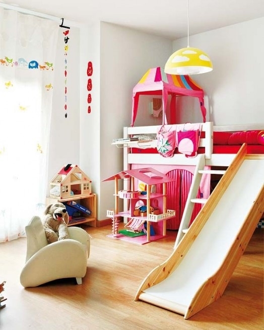 cheerful slide bedroom