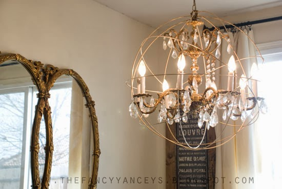How to make 8 amazing chic diy chandeliers reliable remodeler note youll be spray painting the wire and chandelier to match so dont worry too much about color instead look for a chandelier thats a good size and aloadofball Gallery