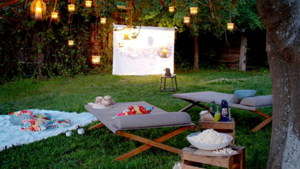 Build an outdoor movie theater