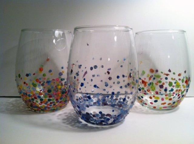 Create confetti tumblers