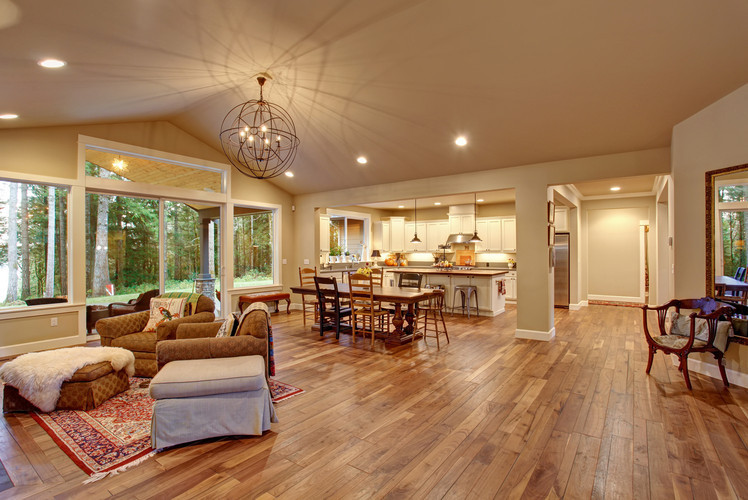 Extend wood flooring in high traffic areas