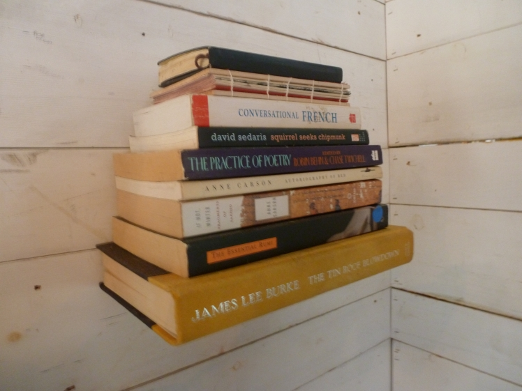 Build a shelf out of books