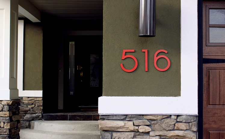 Add bold house numbers to add instant curb appeal