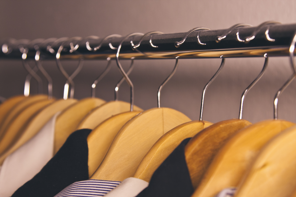 using the same coat hangers in your closet makes it easier to coordinate