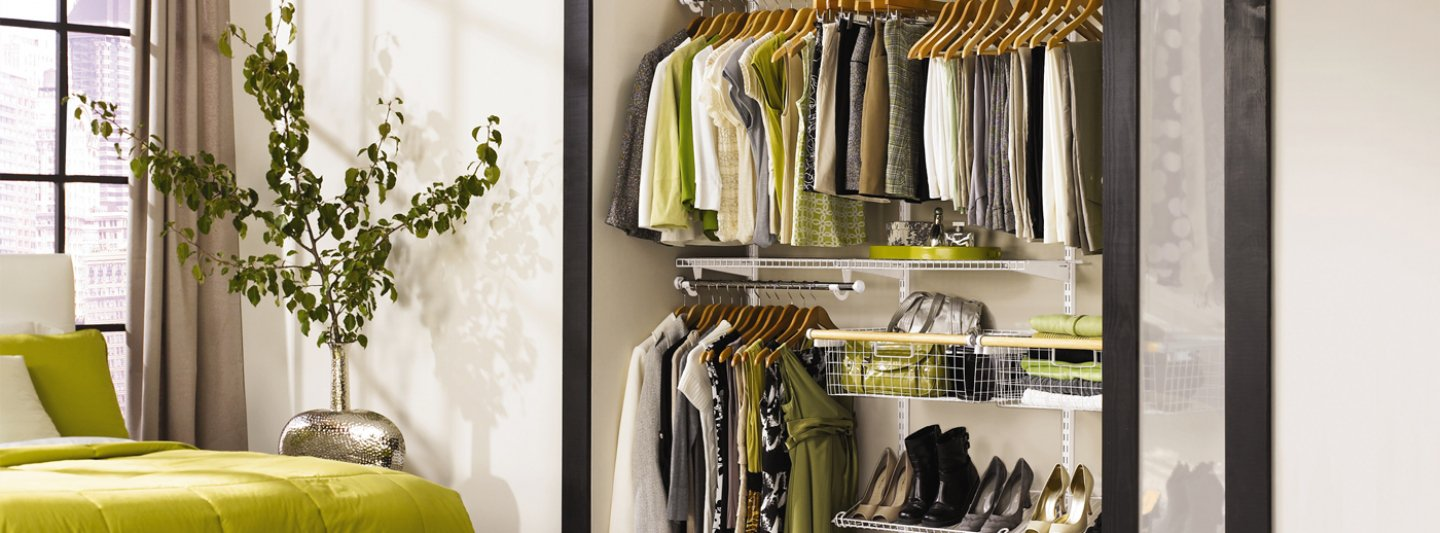 open wardrobes are a great way to get more space from your closet