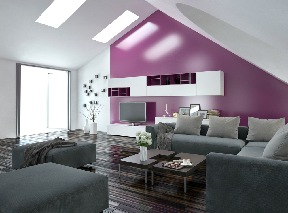 Accent Wall in purple