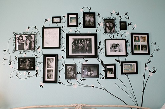 Favorite Photos into tree wall art