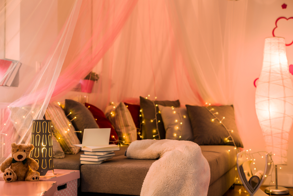 cozy lighting can make a home feel finished