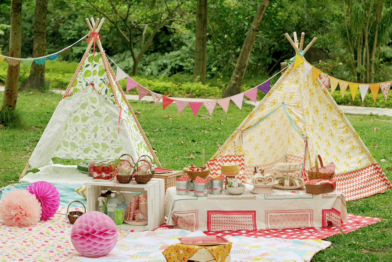 teepees make an adult garden party kid friendly