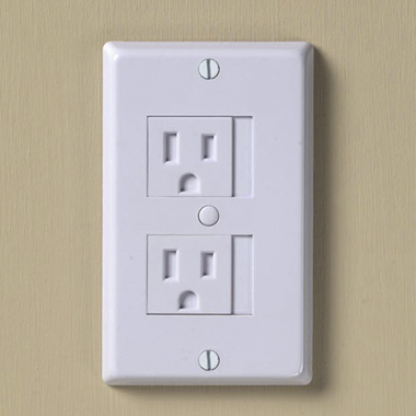 tips for a baby proof home include outlet covers