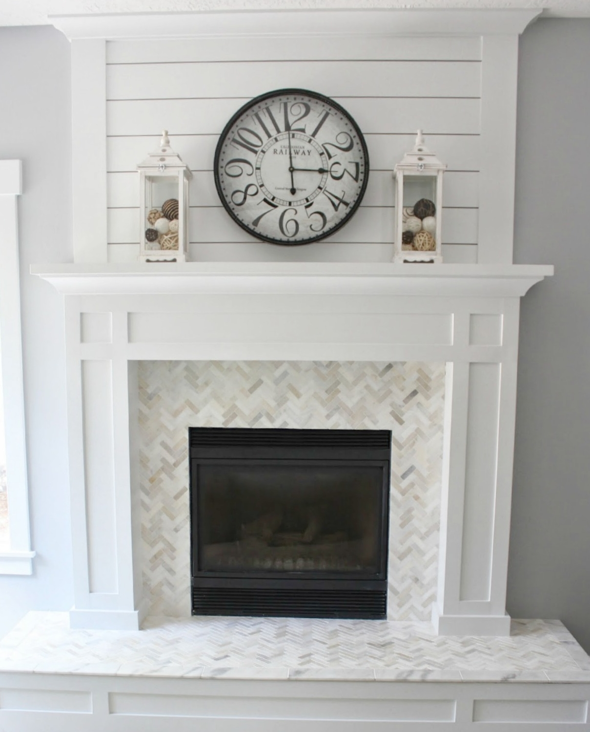 paint your unused fireplace white