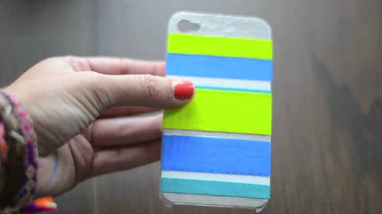 DIY Ideas To Customize An iPhone Case - Duct tape decor