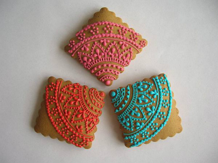 Henna and Lace Cookies