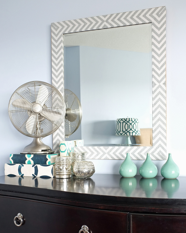 Homemade Herringbone Mirror