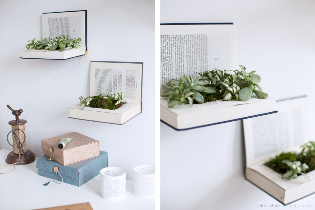 diy-book-planter-shelves