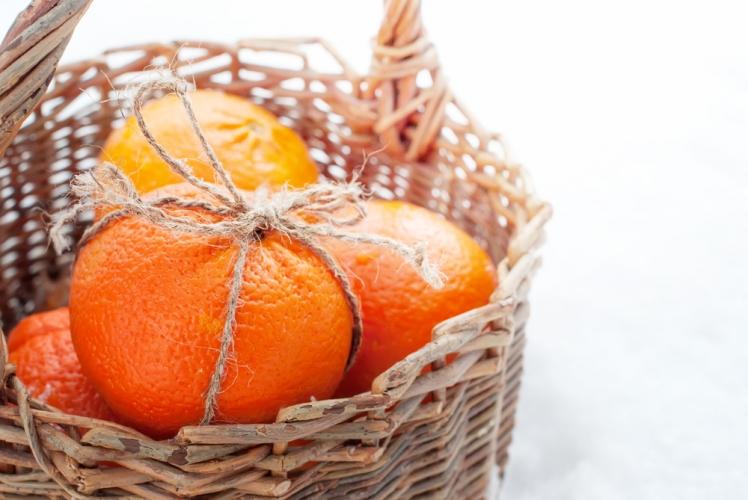 A holiday basket