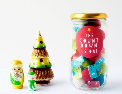Advent calendar jar