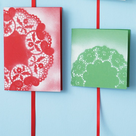 doily cards - Make Your Own Card