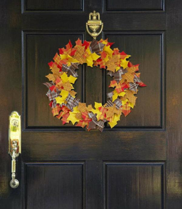 Fall into the felt wreath