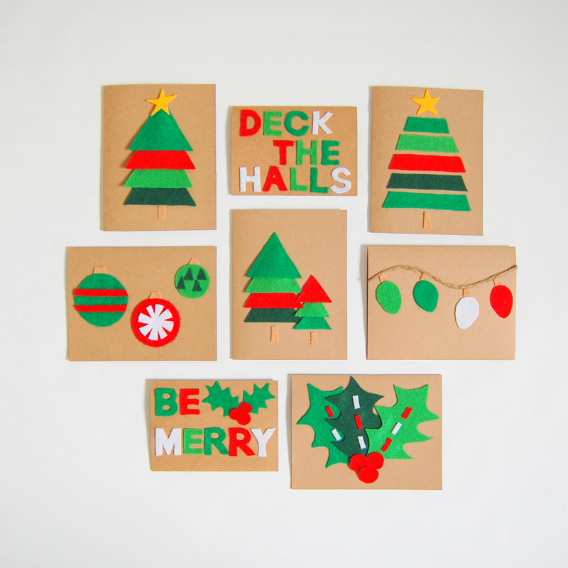 felt christmas cards - Create Christmas Cards
