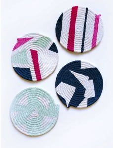 Painted Clothesline Coasters