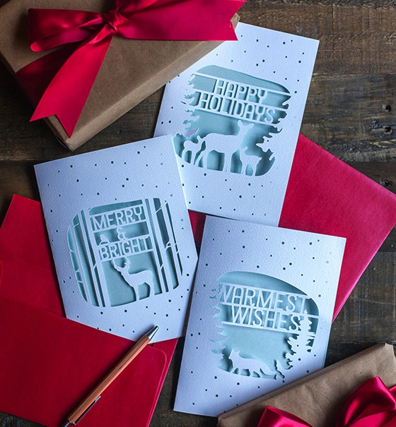 Paper Cut Christmas Cards