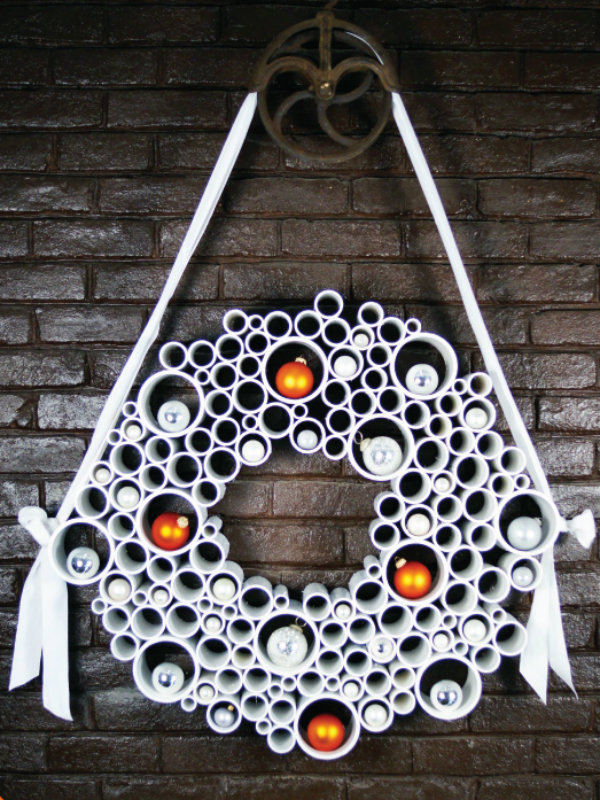 Play with a PVC pipe wreath