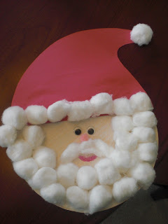 Santa cotton ball
