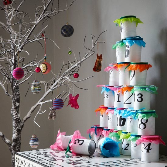 Tin can advent calendar