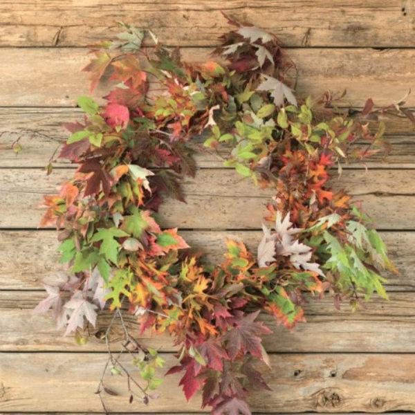 Try a leaf wreath