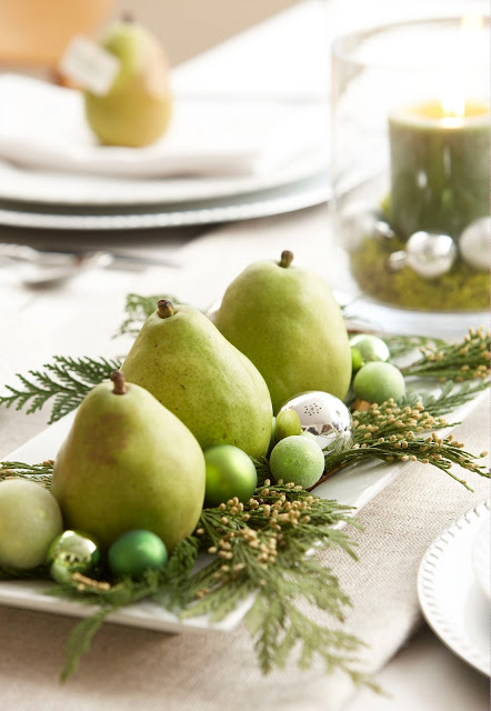 pear centerpiece, Holiday decor_197