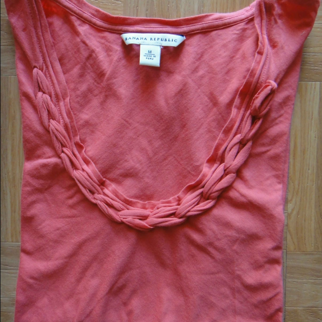 Braided neckline t shirt