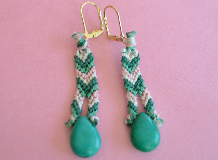 Friendship bracelet earrings
