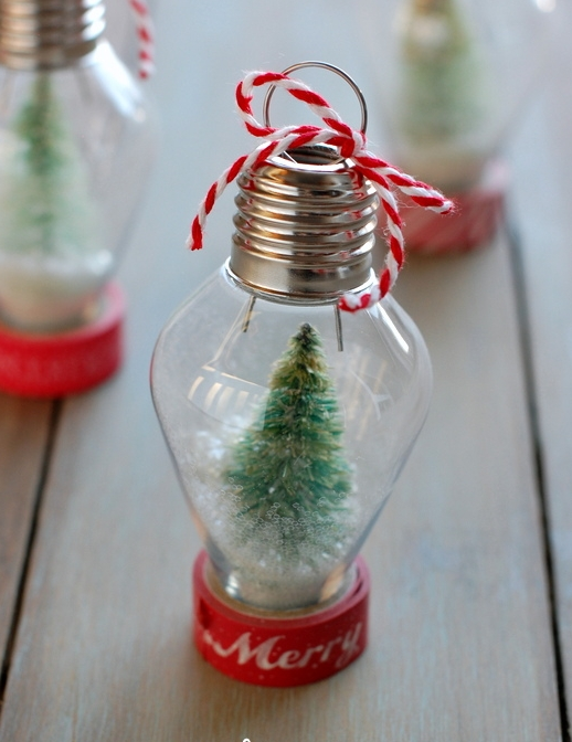 Light bulb snow globe