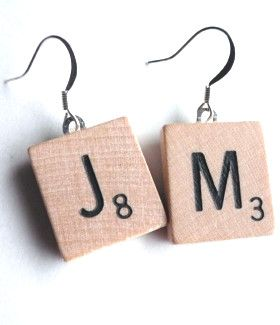 Scrabble earrings
