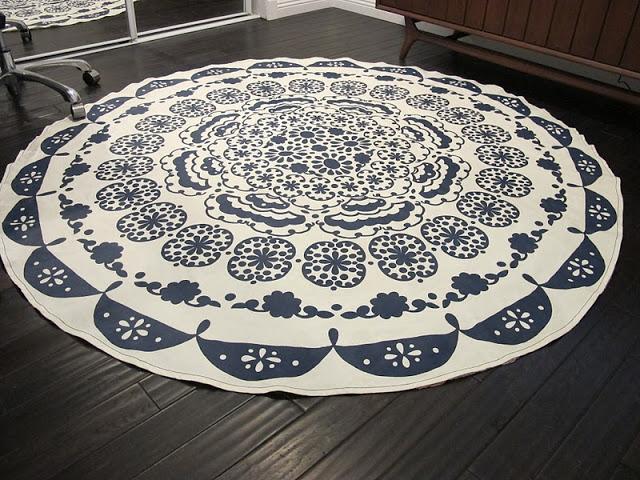 Tablecloth rug