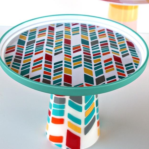 dinnerware cake stand